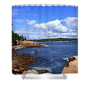 Blue Skies In Maine Shower Curtain