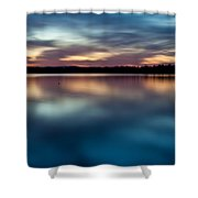 Blue Skies Of Reflection Shower Curtain by Jonas Wingfield