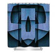 Blue Skull Shower Curtain