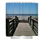 Blue Sky And Beautiful Beach Shower Curtain