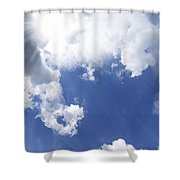 Blue Sky And Cloud Shower Curtain