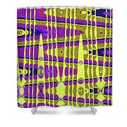 Blue Sky And Color Squares Abstract,#4 Shower Curtain