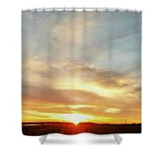 Blue Sky And Sunrise Shower Curtain