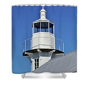 Blue Sky At The Lighthouse Shower Curtain