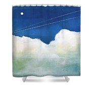 Blue Sky Birds Shower Curtain