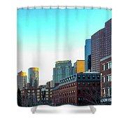 Blue Sky Boston Shower Curtain