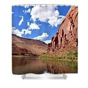 Blue Sky Canyon Shower Curtain