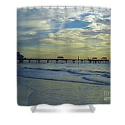 Blue Sky Clearwater Pier 60 Shower Curtain