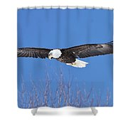 Blue Sky Glide Shower Curtain