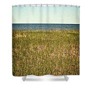Blue Sky Green Grass Shower Curtain