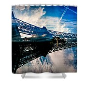 Blue Sky In Paris  Shower Curtain