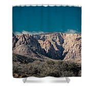 Blue Sky Over Red Rock Shower Curtain