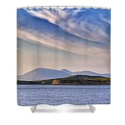 Blue Sky Over The Bay Shower Curtain