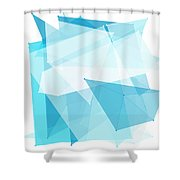 Blue Sky Polygon Pattern Shower Curtain