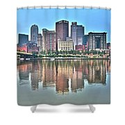Blue Sky Reflecting Water Shower Curtain