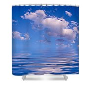 Blue Sky Reflections Shower Curtain