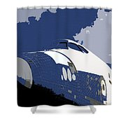Blue Sky Shuttle Shower Curtain