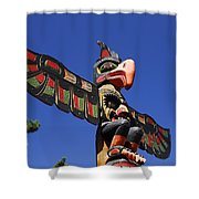 Blue Sky Totem Shower Curtain