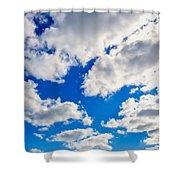Blue Sky With Cloud Closeup 2 Shower Curtain