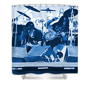 Blue Skynyrd Smoke Shower Curtain