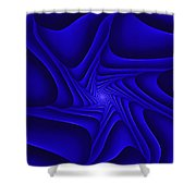 Blue Slide Shower Curtain