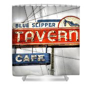 Blue Slipper Shower Curtain