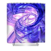 Blue Smoke Abstract Shower Curtain