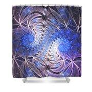 Blue Snails Shower Curtain
