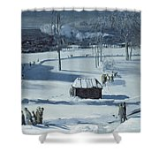 Blue Snow, The Battery Shower Curtain