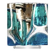 Blue Soda Abstract Shower Curtain