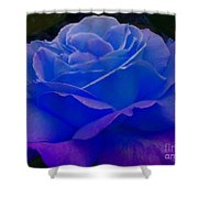 Blue Softness Shower Curtain