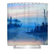 Blue Solitude Shower Curtain