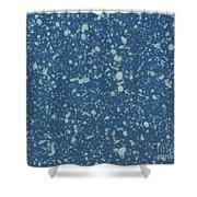 Blue Speckle Shower Curtain