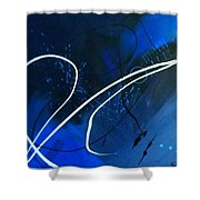Blue Speed Shower Curtain