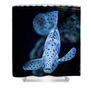 Blue Spotted Aquarium Fish Shower Curtain