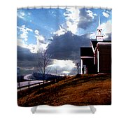 Blue Springs Landscape Shower Curtain