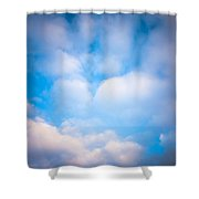 Blue Square Shower Curtain by Konstantin Dikovsky