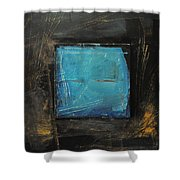 Blue Square Shower Curtain