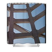Blue Stairs Shower Curtain