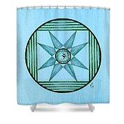 Blue Star Om Shower Curtain