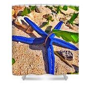 Blue Starfish Shower Curtain