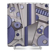 Blue Steel Shower Curtain