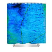 Blue Stone Abstract Shower Curtain