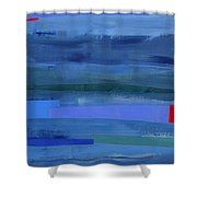 Blue Stripes 1 Shower Curtain