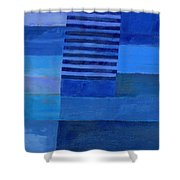 Blue Stripes 7 Shower Curtain