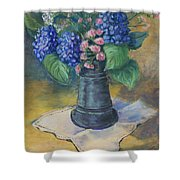 Blue Summer Shower Curtain