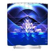 Blue Summit Shower Curtain
