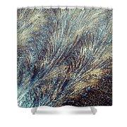 Blue Supernova - Hoarfrost Shower Curtain