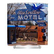 Blue Swallow Motel On Route 66 Shower Curtain