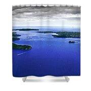 Blue Sydney Harbour Shower Curtain
